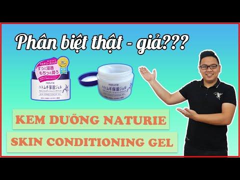Phân biệt thật - giả Kem Dưỡng Naturie Hatomugi Skin Conditioning Gel   Khỏe đẹp tại nhà