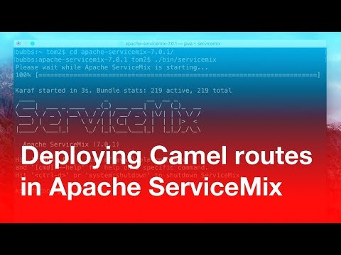 "How to ""hot"" deploy a Camel route in Apache ServiceMix"