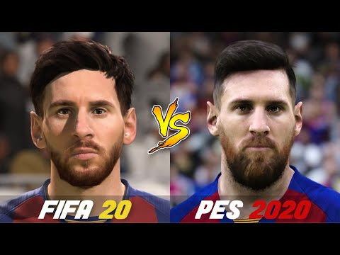 FIFA 20 Vs. PES 2020 | All Famous Player Faces | Gameplay Comparison