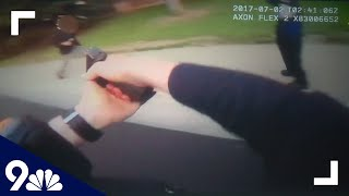RAW: Bodycam video shows man fatally shot after charging police with knife
