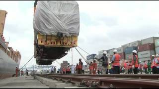 Train locomotives for SGR arrive at the port of Mombasa