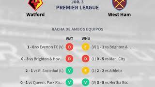 Previa Watford vs West Ham - Jornada 3 - Premier League 2019 - Pronósticos y horarios