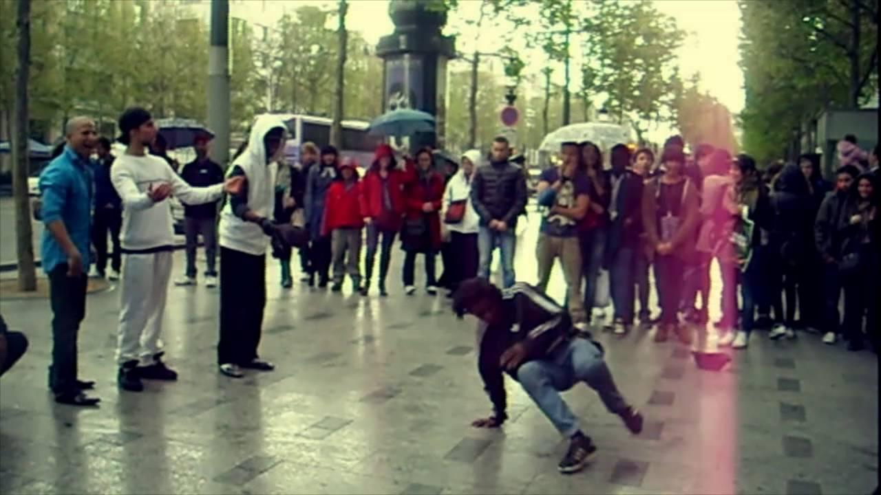 Dance hip hop in the streets of Paris رقص هيب هوب رهيب بريك دانس فى شوارع باريس
