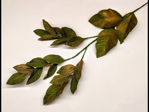 How to make Crepe Paper Leaves for Decoration