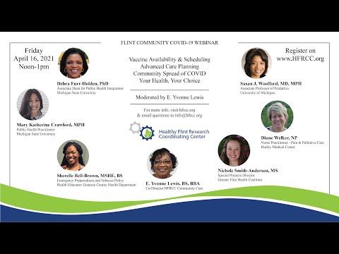 Flint Community COVID 19 Webinar #57 Healthy Flint Research Coordinating Center, April16, 2021
