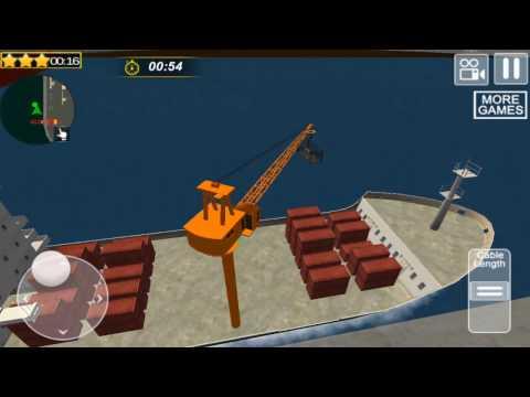 Cargo Ship Manual Crane 2 - Gameplay video