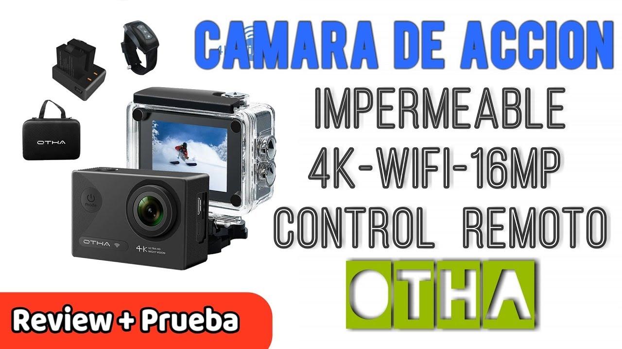 c3dc5b4560433 OTHA Cámara Acción Deportiva 4K Impermeable WiFi 16MP Lentes Sensor SONY