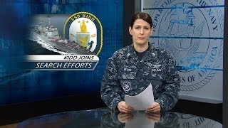 USS Kidd Joins Search Efforts for Missing Malaysian Aircraft