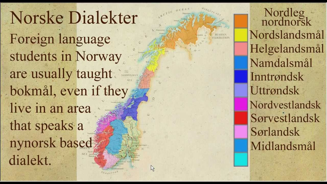 Norwegian Dialects Explained Norske Dialekter YouTube - Norway language map