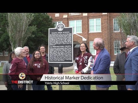 YISD celebrates new historical marker at Ysleta High School