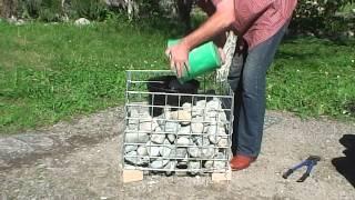 How to build gabion planters aus