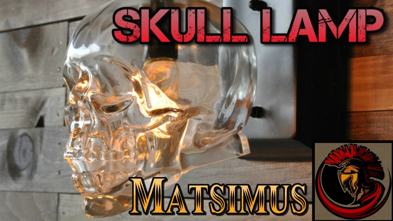 Glass Skull Lamp- Crystal Head Vodka Skull - YouTube