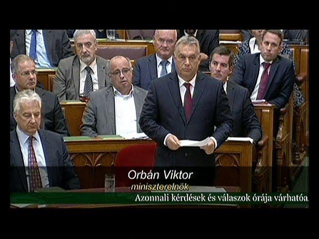 Orbán Viktor válaszai és viszontválaszai az azonnali kérdések órájában