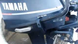 Yamaha 6 HK 1988 mod. Test av motor i tønne.