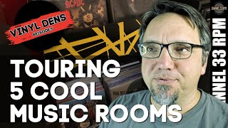 Cool idea for record storage bins | VINYL DENS (Episode 5) - Vinyl Community Music Room Tours |