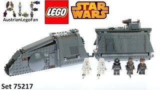 Lego Star Wars 75217 Imperial Conveyex Transport - Lego Speed Build Review