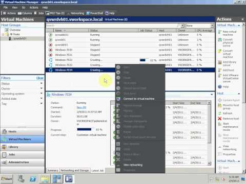 Quest vWorkspace Rapid Virtual Desktop Provisioning with Microsoft SCVMM and Hyper-V