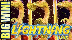 ★BIG WIN!! NEW LIGHTNING LINK SLOTS!★ DRAGON'S RICHES & EYES OF FORTUNE Slot Machine (Aristocrat)