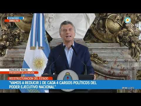Mauricio Macri anunció el plan de ajuste del Estado | #TPANoticias