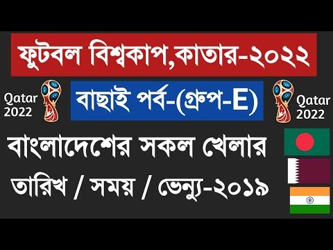 Bangladesh football world cup qualifiers 2022 | Football world cup 2022 Bangladesh match fixture