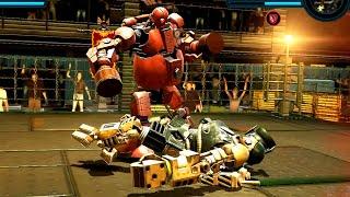 REAL STEEL WRB Fat Boy VS Sarge & Bio War & Ambush & Danger ZOne