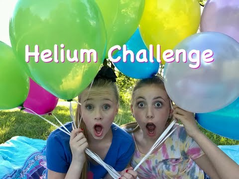 Helium Balloon Singing Challenge with Princess Ella & Nicole