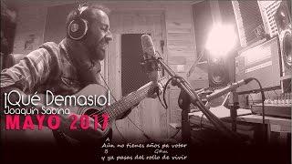Qué Demasiao - Joaquín Sabina (Cover Acústica, letra y acordes)