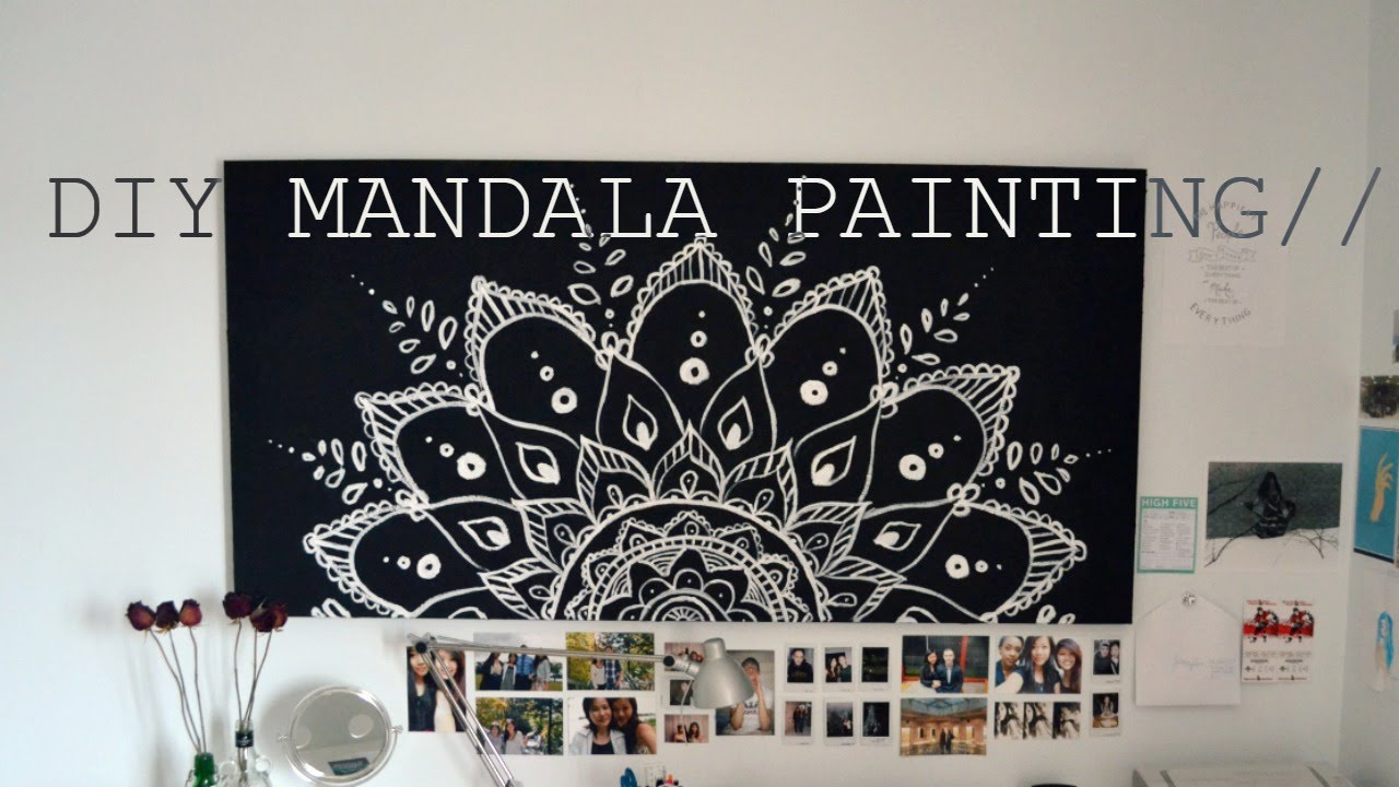 re-upload// diy spring room decor mandala painting// - youtube