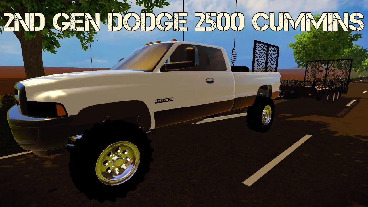 Farming simulator 2015 mods 2nd gen dodge ram 2500 cummins turbo diesel youtube
