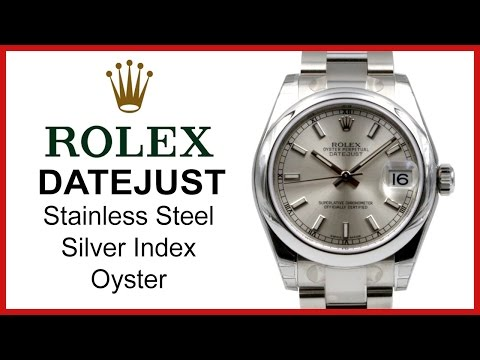 Rolex Datejust Silver, Index Dial UNBOXING & REVIEW - 31mm, Domed, Stainless Steel Oyster, 178240