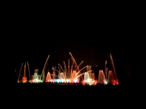JP Park (Bangalore) musical water fountain.