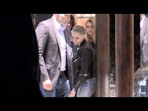 EXCLUSIVE - Kristen Stewart and girlfriend Stella Maxwell have a romantic dinner in Paris