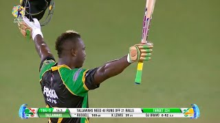 Andre Russell hits 13 SIXES during whirlwind century!