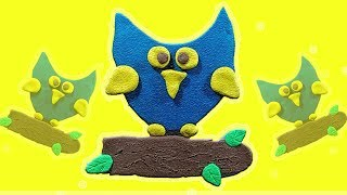 Learn Colors / Shapes / fun creative OWL with Play DOh for Babie Toddlers.