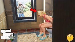 GTA 5 - What Happens When Tracey LOCKS The Bathroom Door (secret scene)