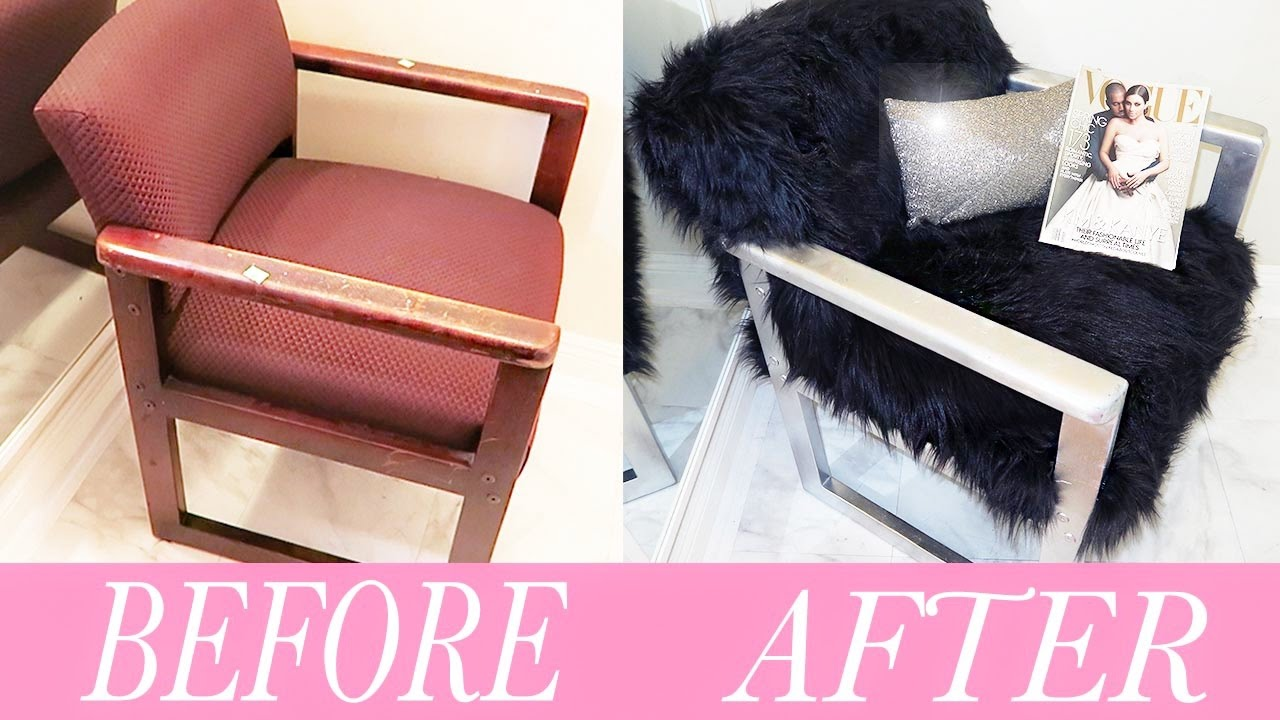 DIY FUR CHAIR!   YouTube