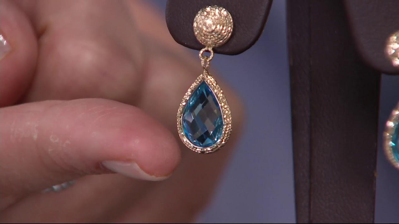 cfda47831 Italian Gold Gemstone Drop Earrings, 14K Gold on QVC - YouTube