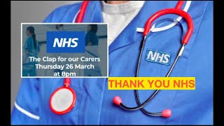 #thankyounhs thank you nhs a big applause for al the doctors, nurses, cares, gps, medical staffs who are working so very hard, risking their lives to fight t...