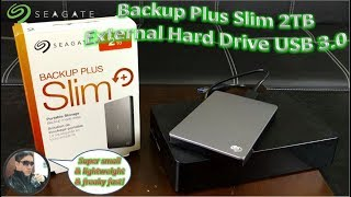 Seagate Backup Plus Slim 2TB External Hard Drive USB 3.0