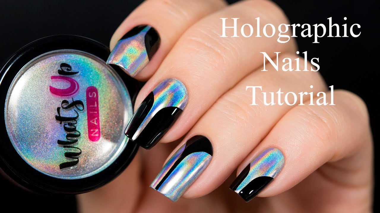 Holo Mirror Chrome Pigment Powder Nails - YouTube
