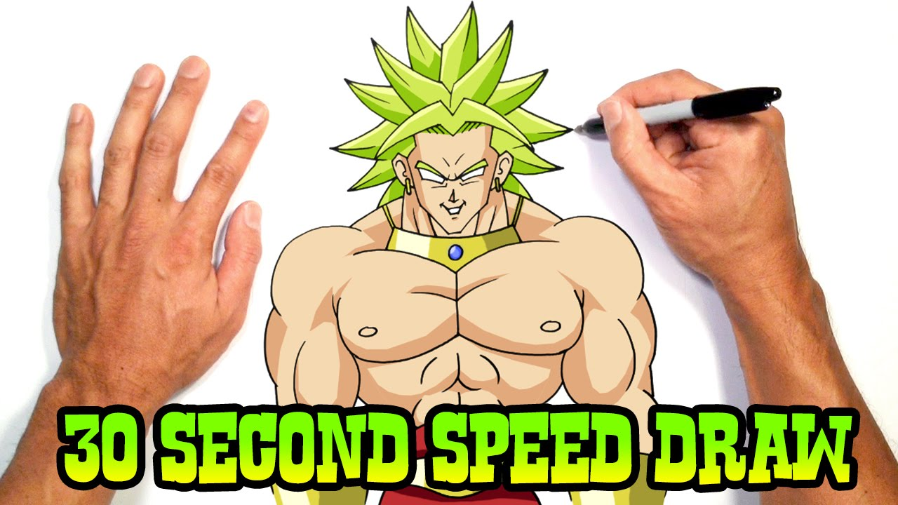 Broly dragon ball z speed drawing preview youtube publicscrutiny Gallery