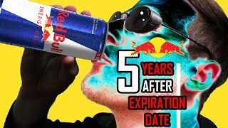 Drinking expired Red Bull energy drinks