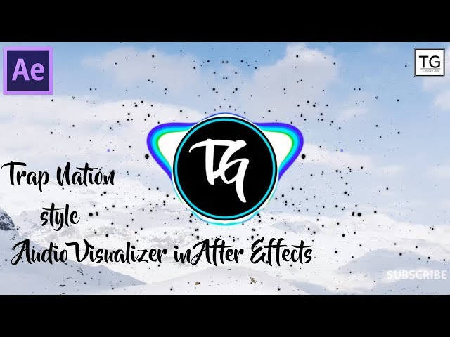 After Effects Tutorial - Trap Nation Style Audio visualizer- No third party plugin