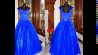 royal blue flower girl dress