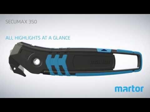 Safety knife MARTOR SECUMAX 350 product video GB