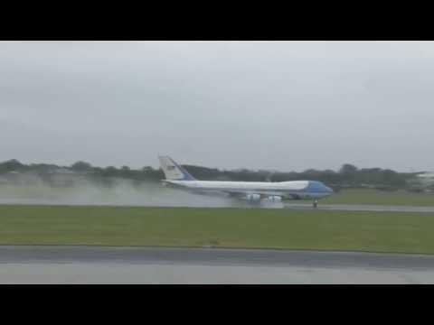 G8 arrivals at Belfast International Airport