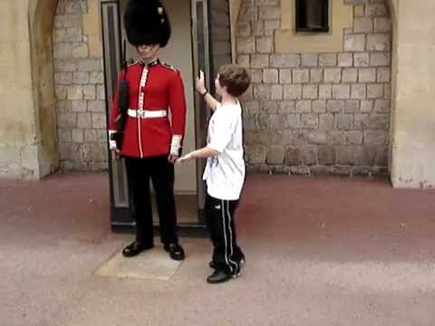 British Royal Guard Soldier - (TRY NOT TO LAUGH ...