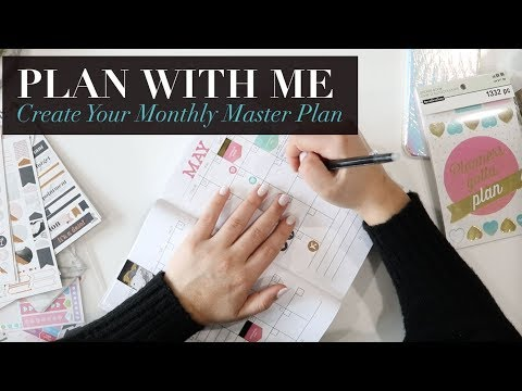 PLAN WITH ME MAY | How to Create Your Monthly Master Plan