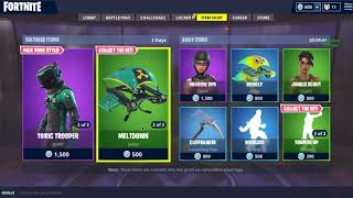 *NEW* TOXIC TROOPER and HAZARD AGENT skins on FORTNITE! Daily Shop Update! May 17, 2018! *COSMETICS*