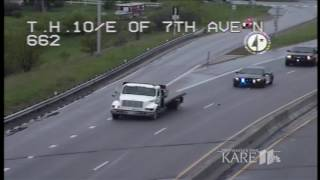 Minnesota State Patrol chases flatbed truck on Hwy. 10